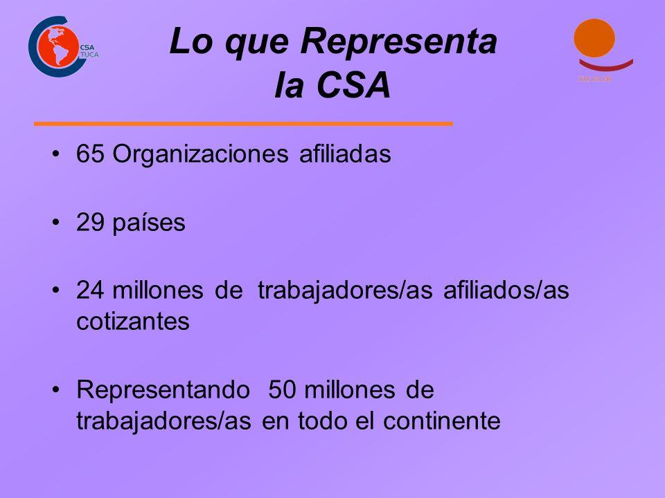 Lo que Representa la CSA