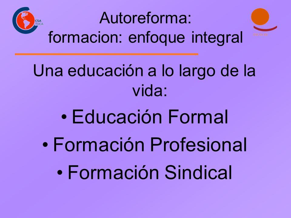 Autoreforma: formacion: enfoque integral