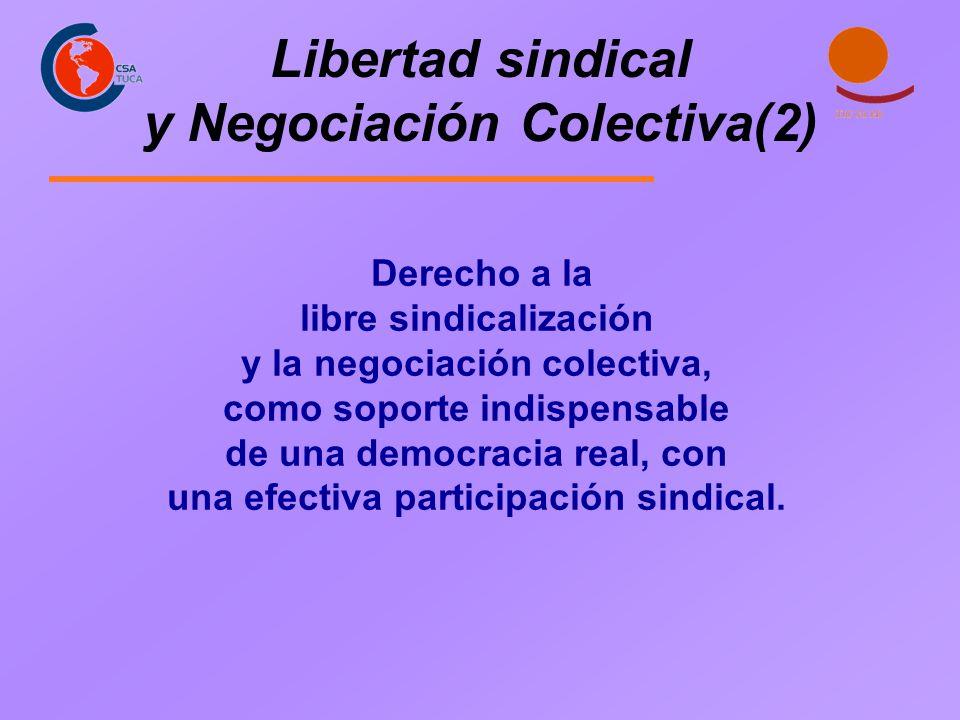 Libertad sindical y Negociación Colectiva(2)