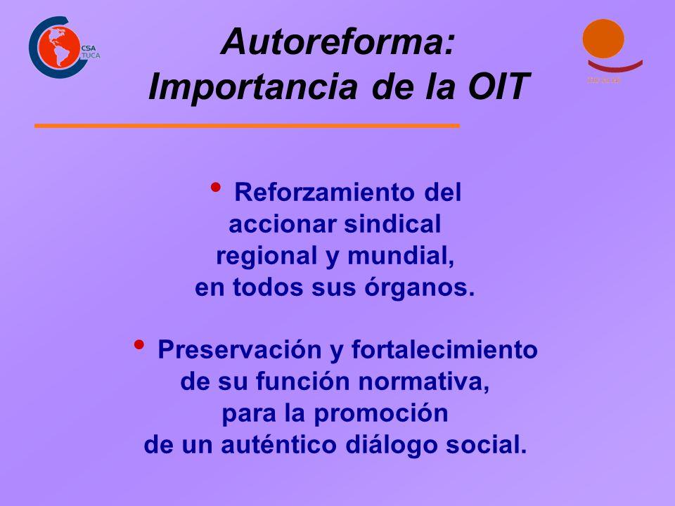 Autoreforma: Importancia de la OIT