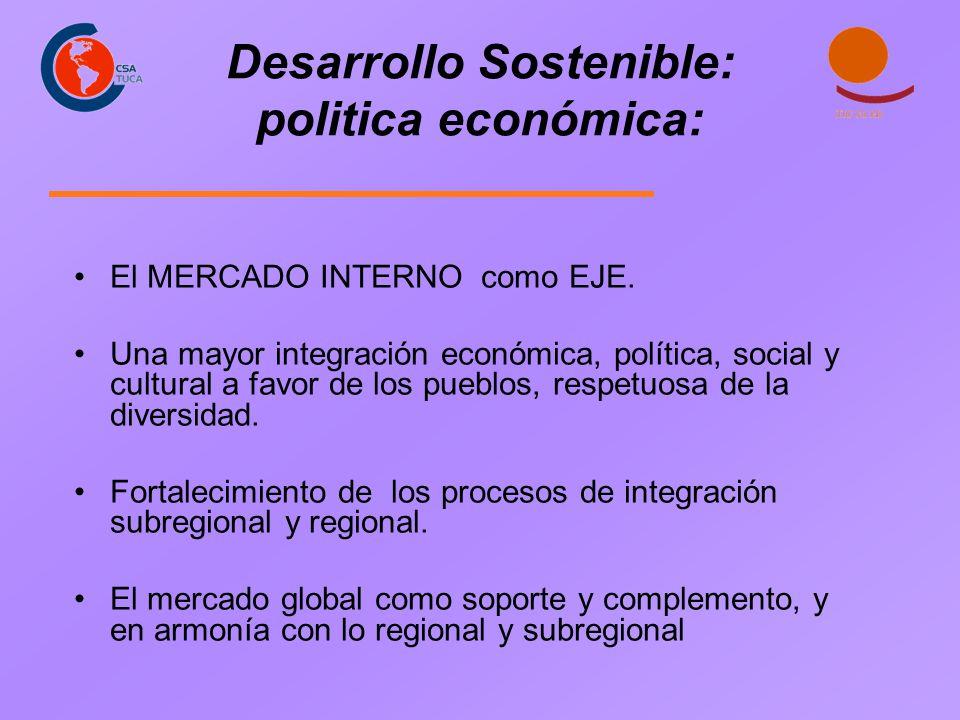 Desarrollo Sostenible: politica económica: