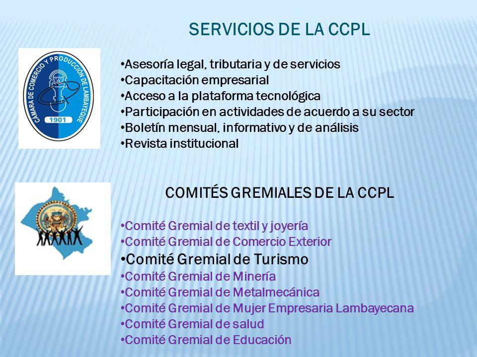 COMITÉS GREMIALES DE LA CCPL