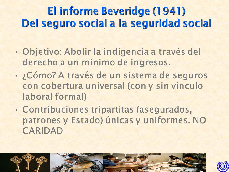 El informe Beveridge (1941) Del seguro social a la seguridad social