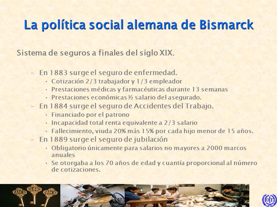 La política social alemana de Bismarck