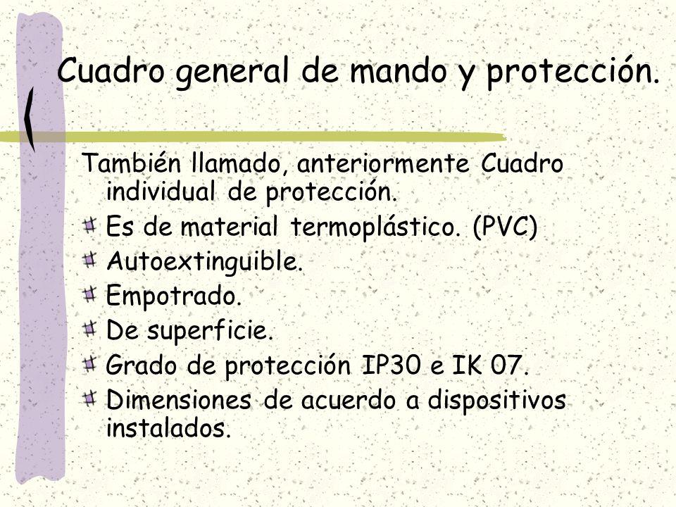 Cuadro general de mando y protección.