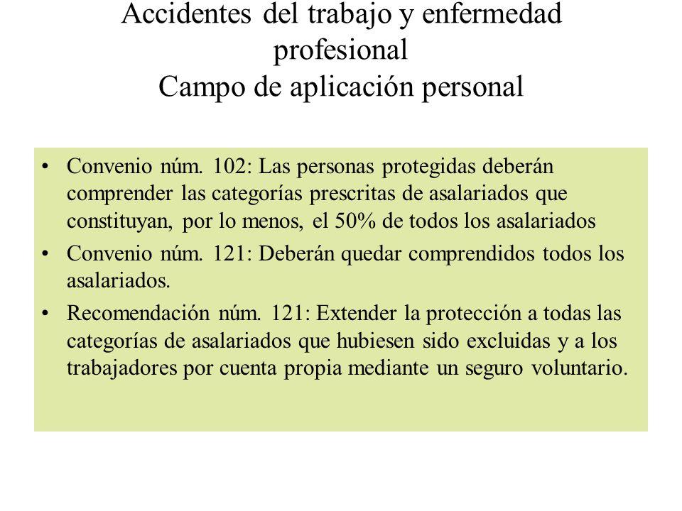 Accidentes del trabajo y enfermedad profesional Campo de aplicación personal