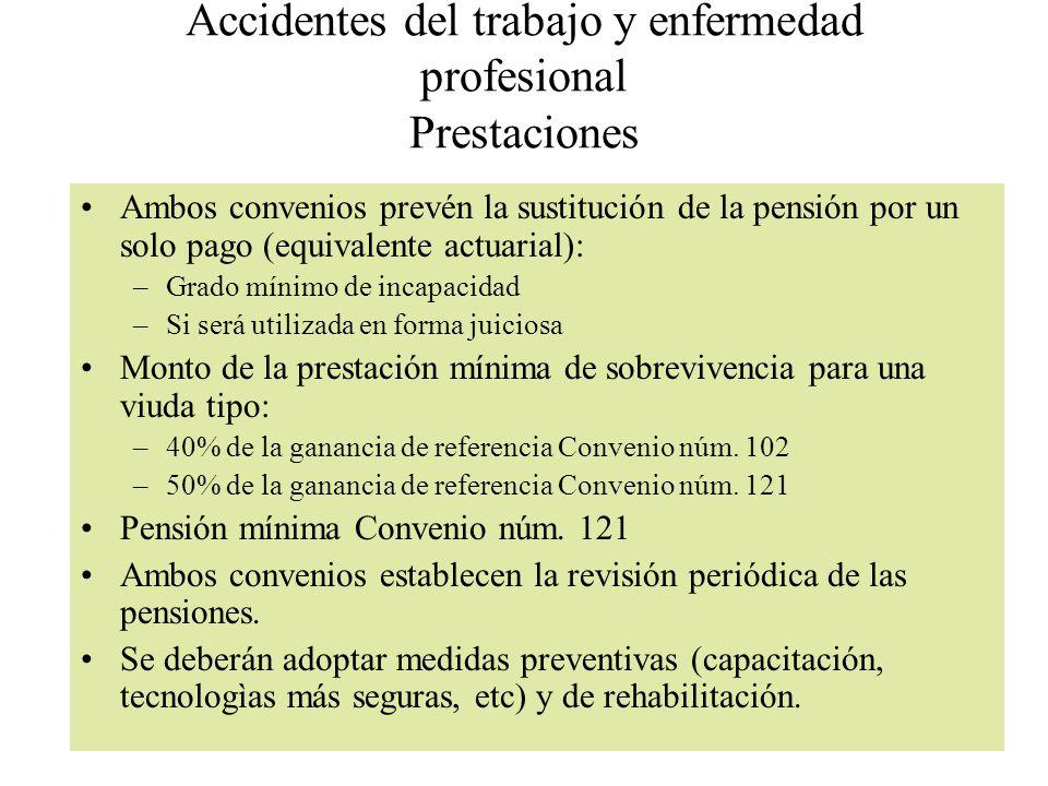 Accidentes del trabajo y enfermedad profesional Prestaciones