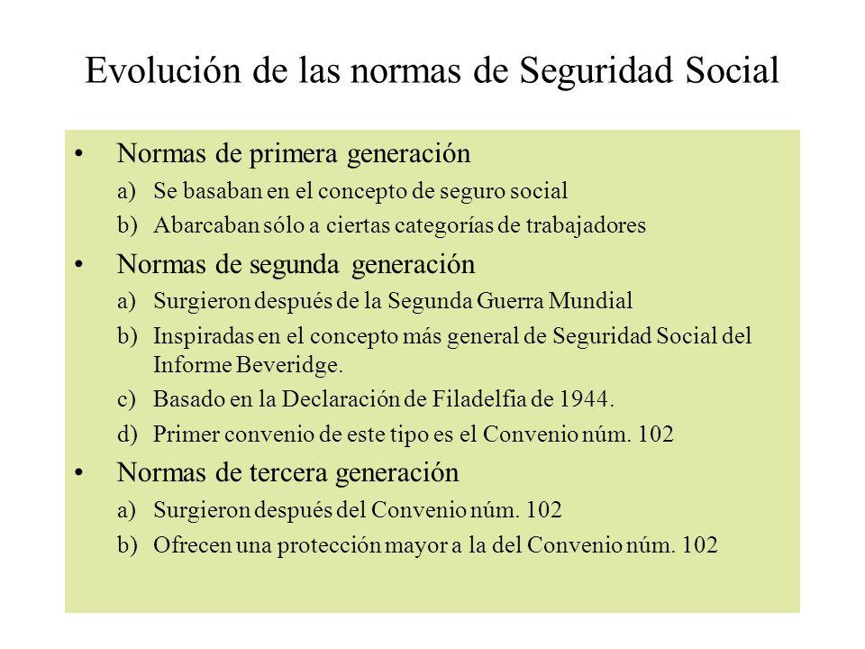 Evolución de las normas de Seguridad Social