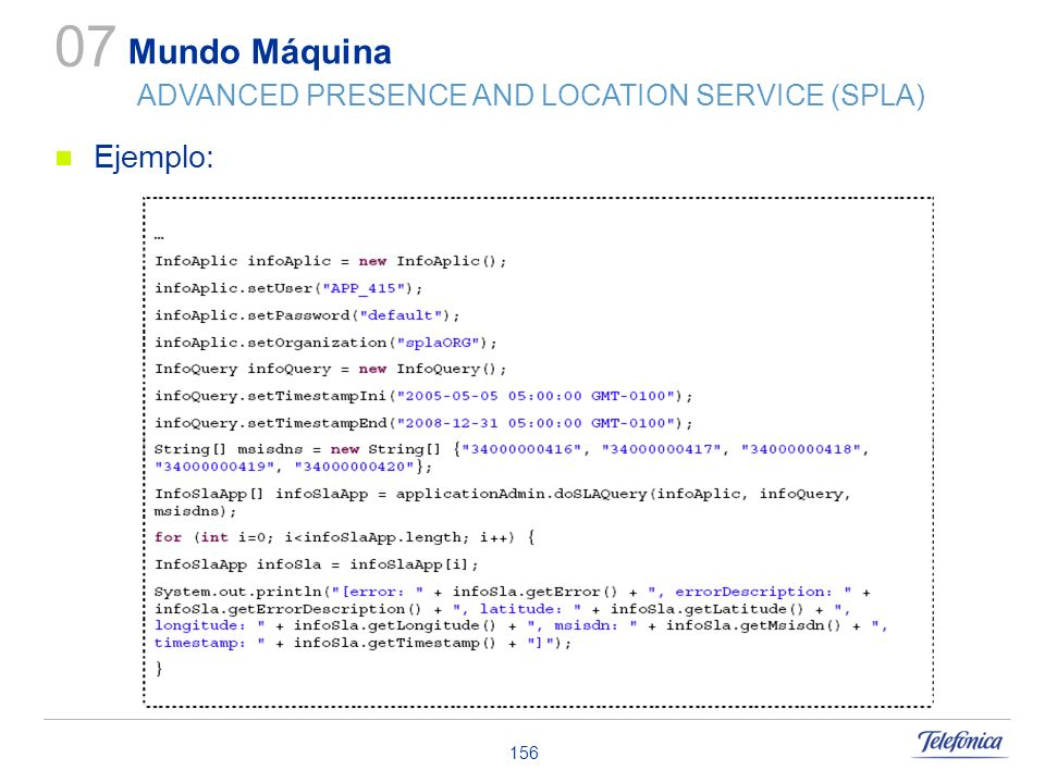 07 Mundo Máquina ADVANCED PRESENCE AND LOCATION SERVICE (SPLA)