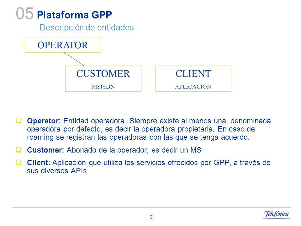 Plataforma GPP Descripción de entidades