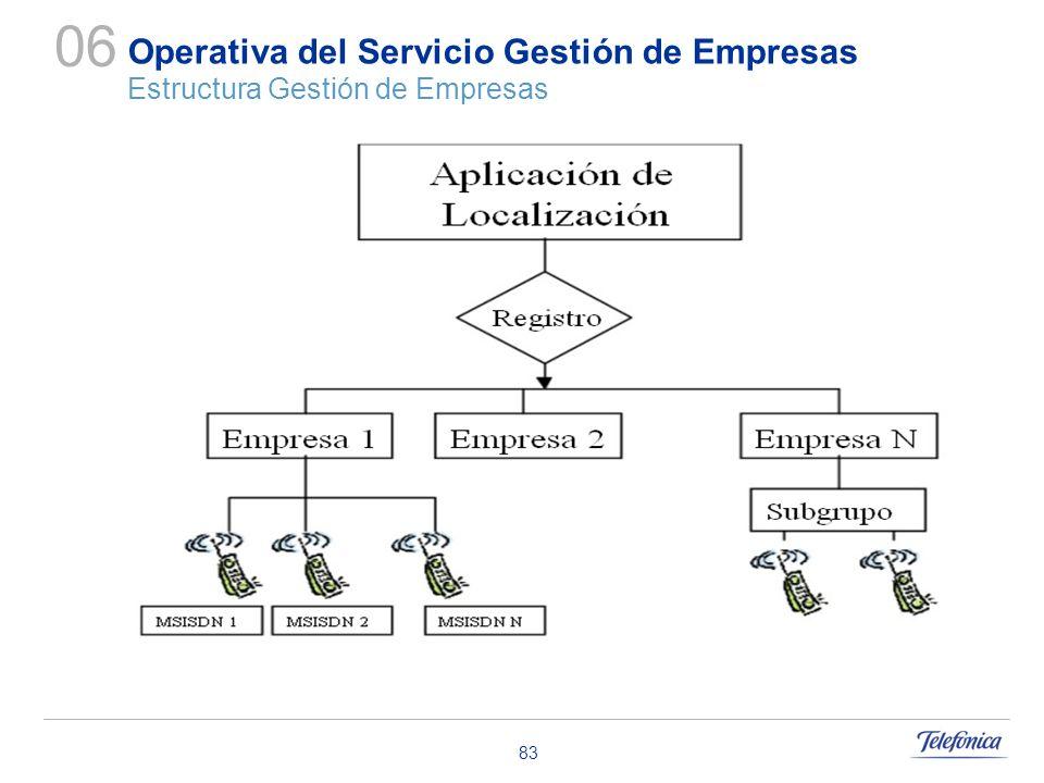 06 Operativa del Servicio Gestión de Empresas Estructura Gestión de Empresas