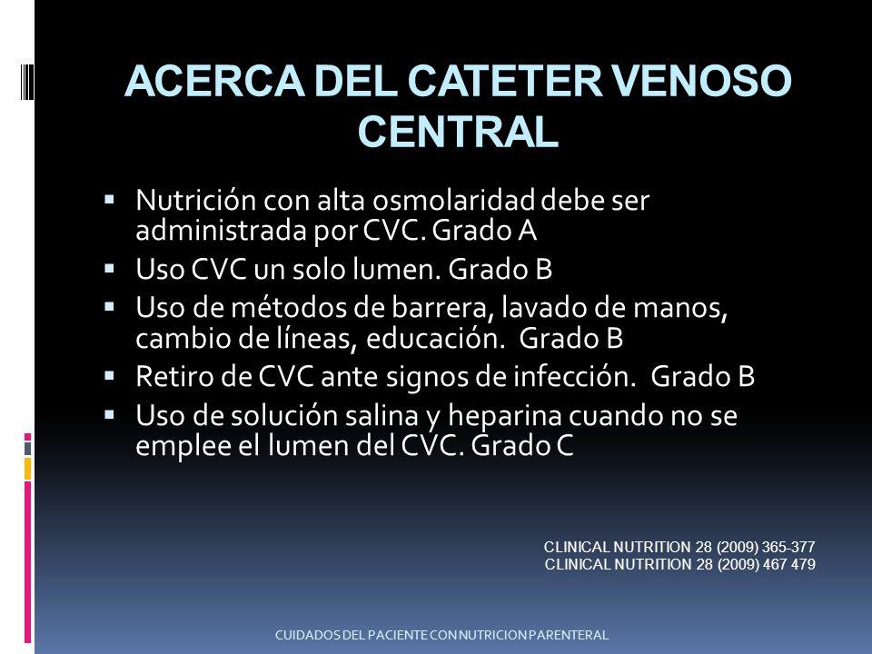ACERCA DEL CATETER VENOSO CENTRAL
