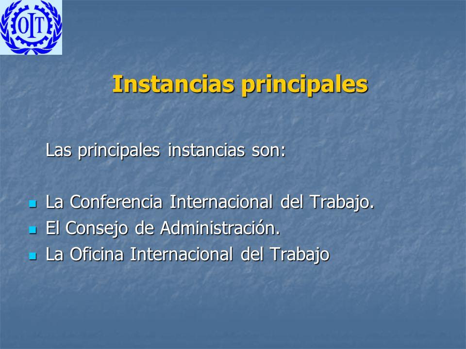 Instancias principales
