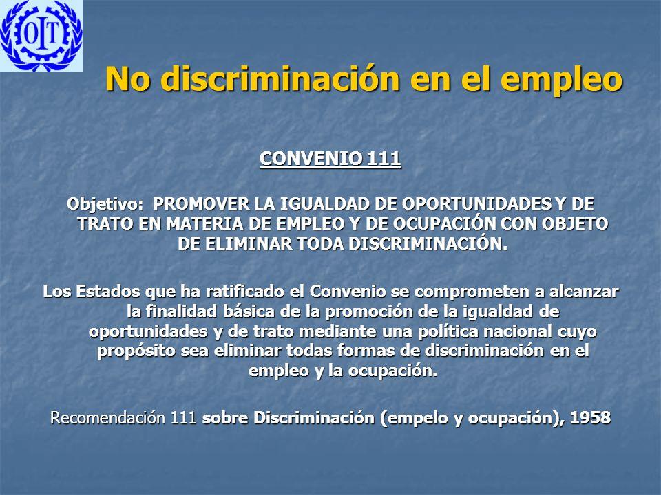 No discriminación en el empleo