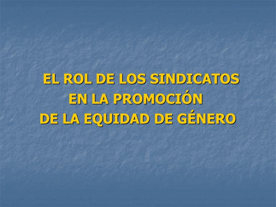EL ROL DE LOS SINDICATOS
