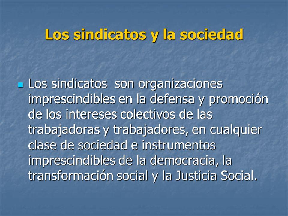 Los sindicatos y la sociedad