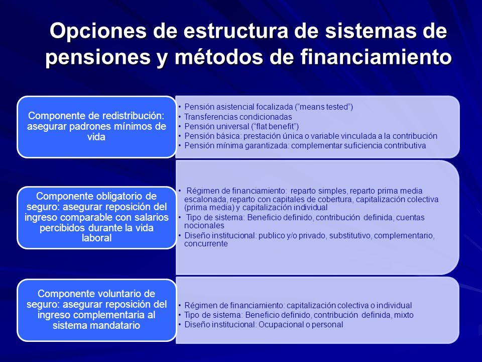 Componente de redistribución: asegurar padrones mínimos de vida