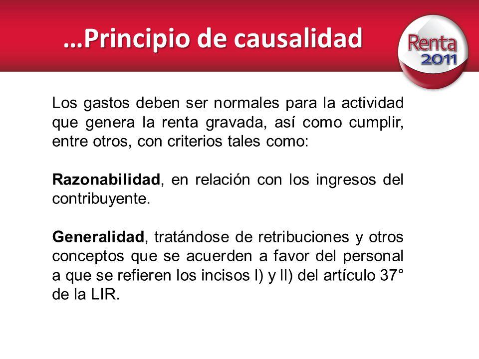 …Principio de causalidad