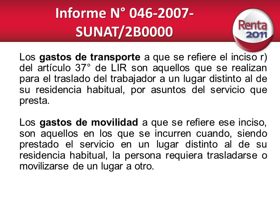 Informe N° 046-2007-SUNAT/2B0000