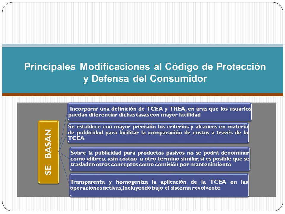 Principales Modificaciones al Código de Protección y Defensa del Consumidor