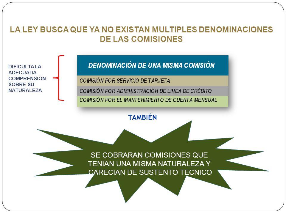 LA LEY BUSCA QUE YA NO EXISTAN MULTIPLES DENOMINACIONES