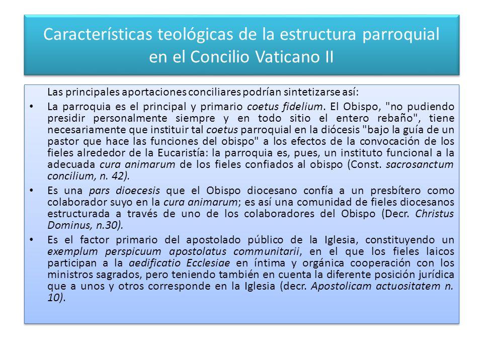 Características teológicas de la estructura parroquial en el Concilio Vaticano II