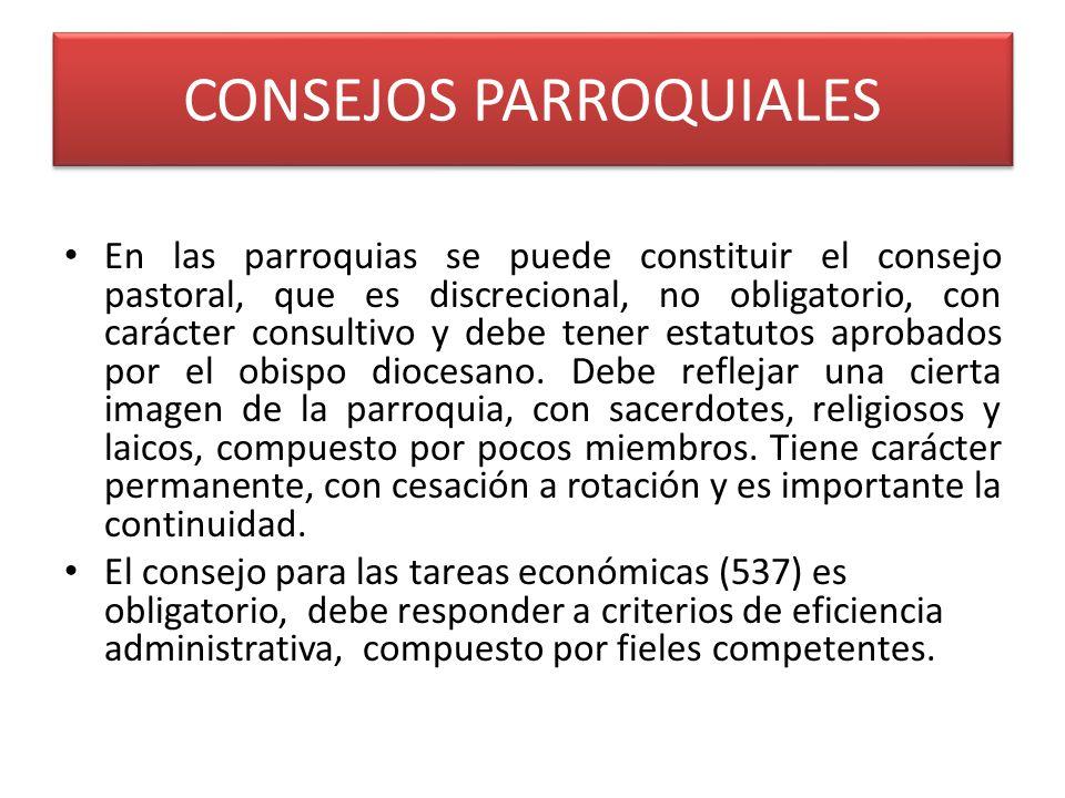CONSEJOS PARROQUIALES