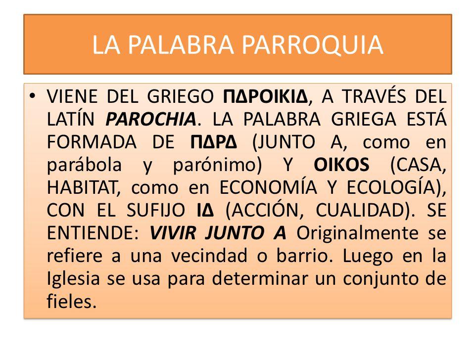 LA PALABRA PARROQUIA