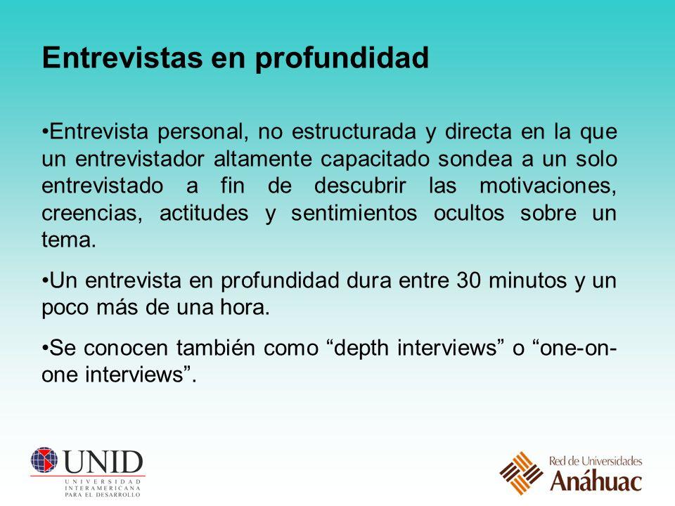 Entrevistas en profundidad