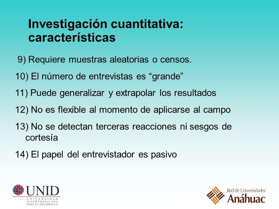 Investigación cuantitativa: características
