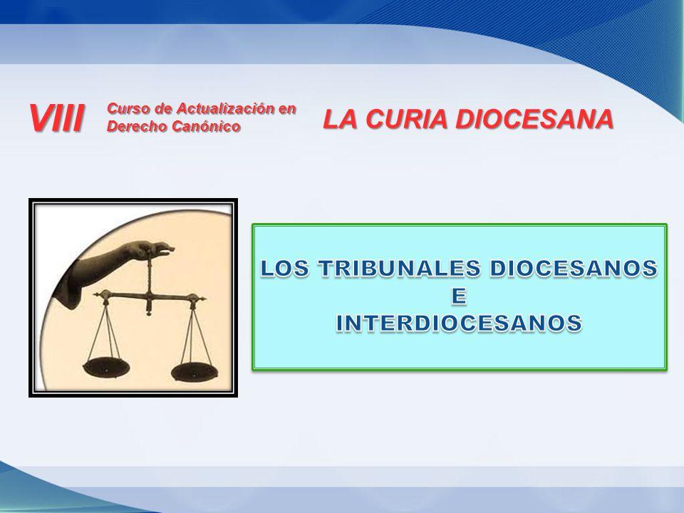 LOS TRIBUNALES DIOCESANOS