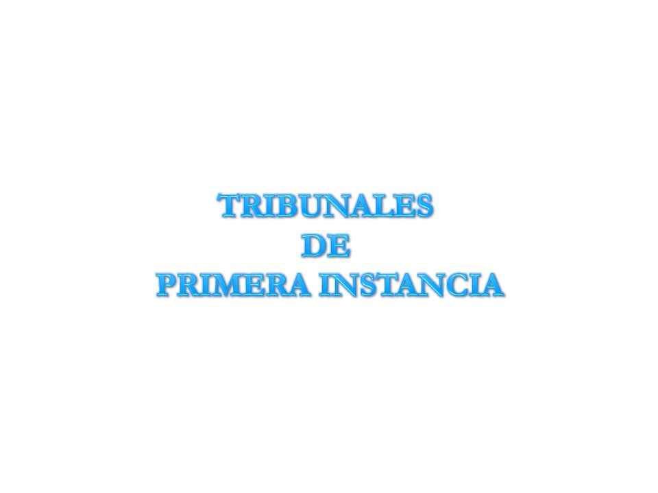 TRIBUNALES DE PRIMERA INSTANCIA