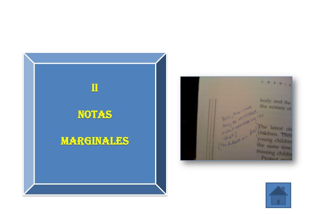 II Notas MARGINALES