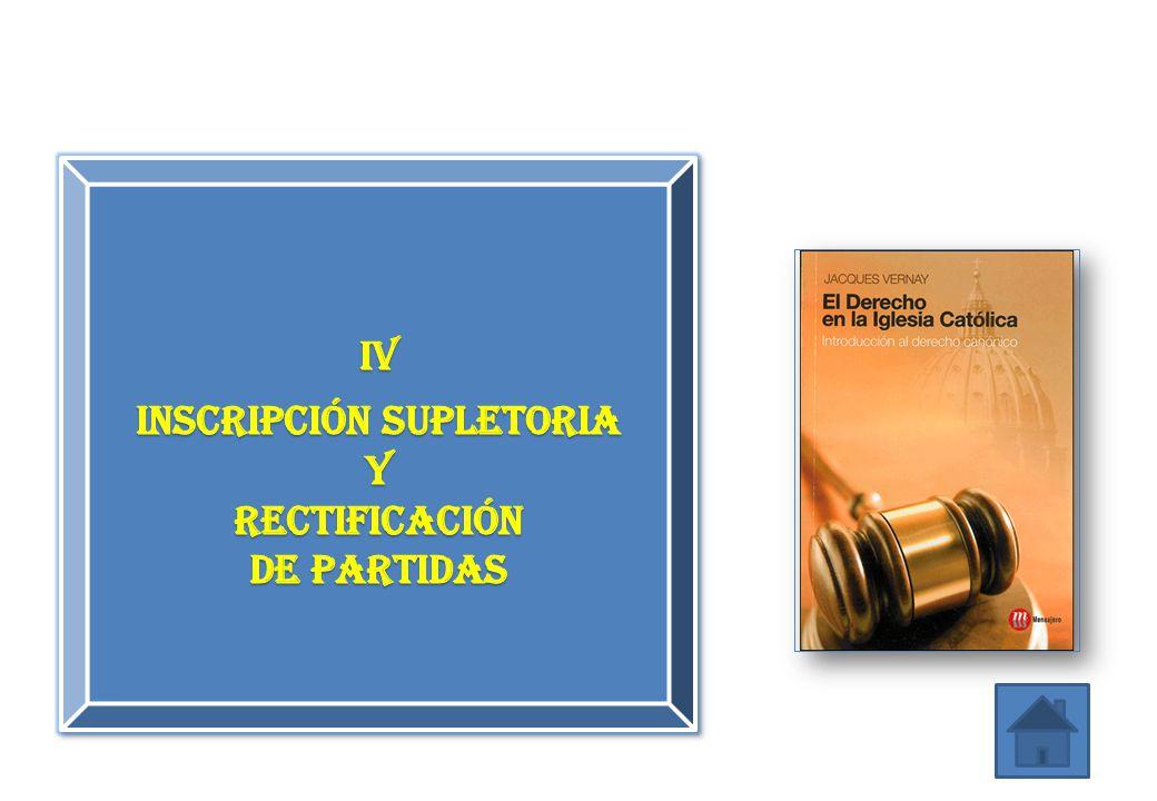 inscripción supletoria