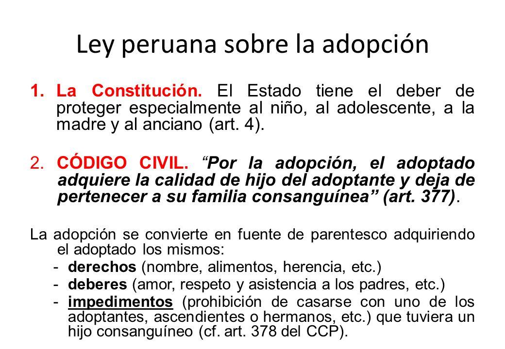 Ley peruana sobre la adopción