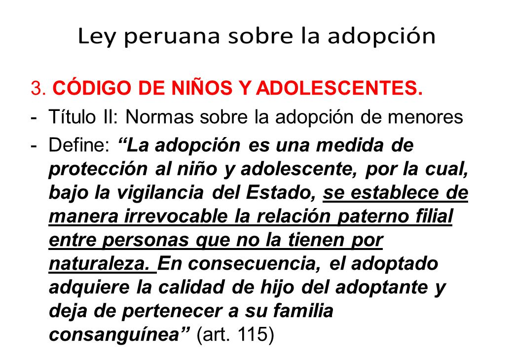 3. CÓDIGO DE NIÑOS Y ADOLESCENTES.