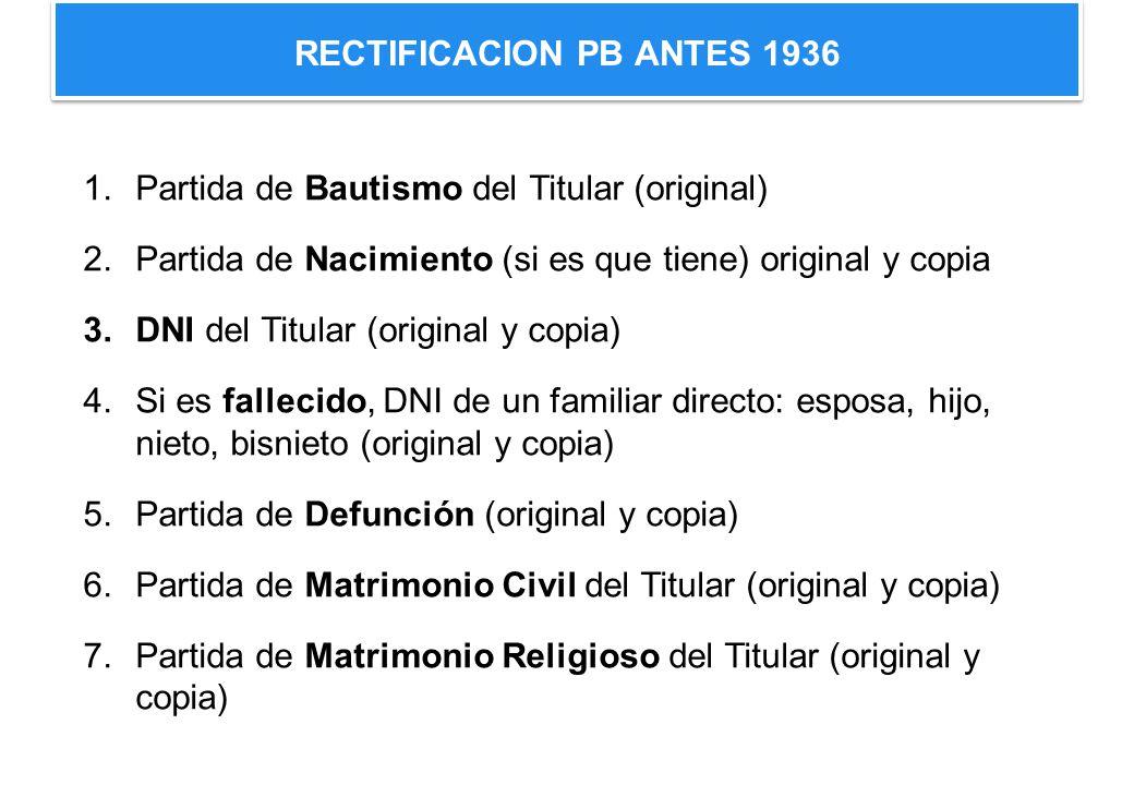 RECTIFICACION PB ANTES 1936