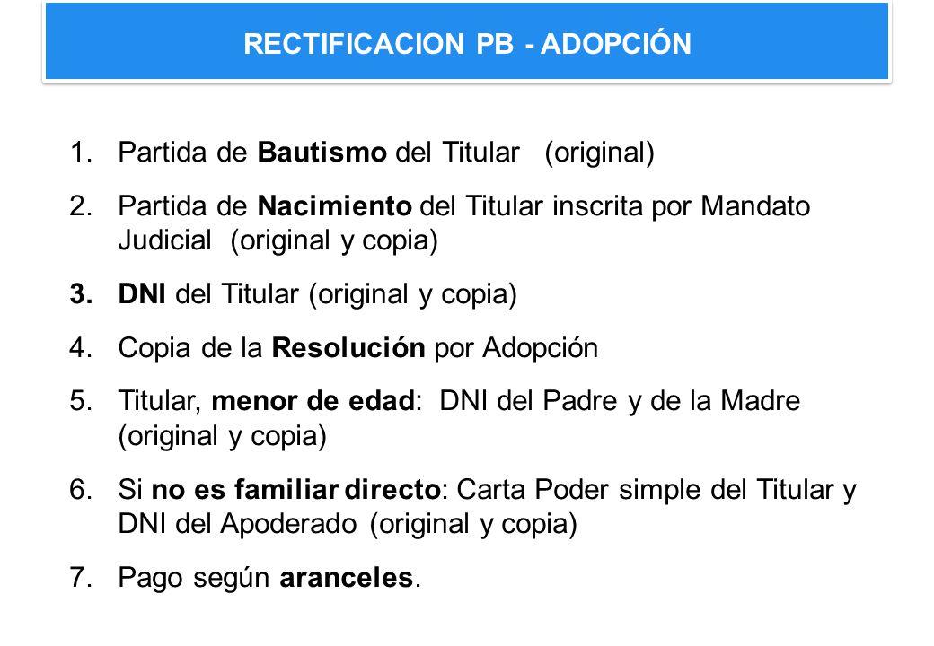 RECTIFICACION PB - ADOPCIÓN