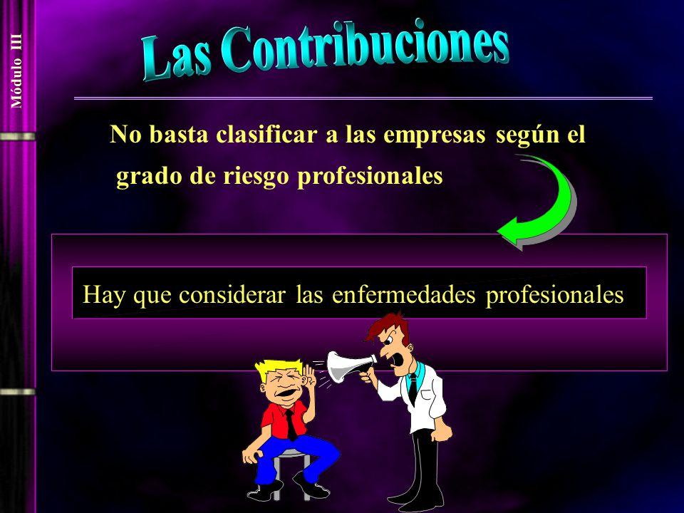 Las Contribuciones No basta clasificar a las empresas según el