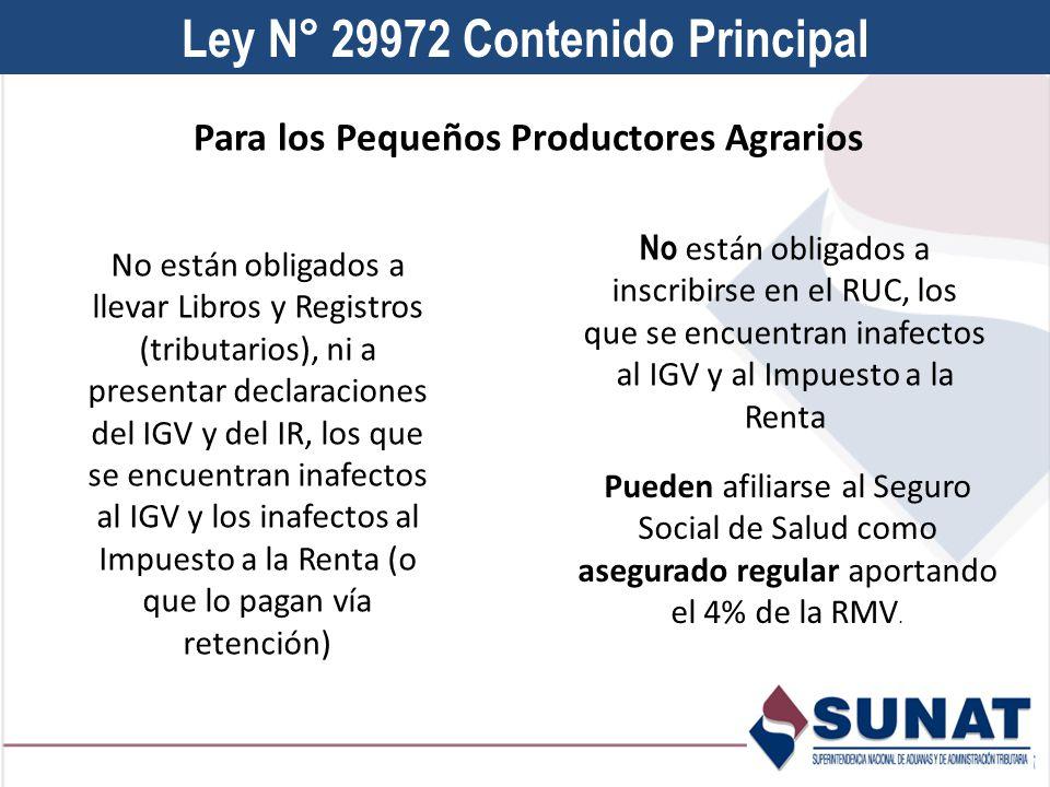 Ley N° 29972 Contenido Principal