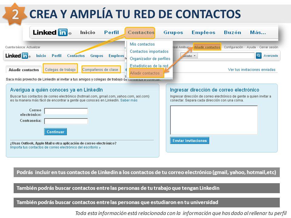 2 CREA Y AMPLÍA TU RED DE CONTACTOS