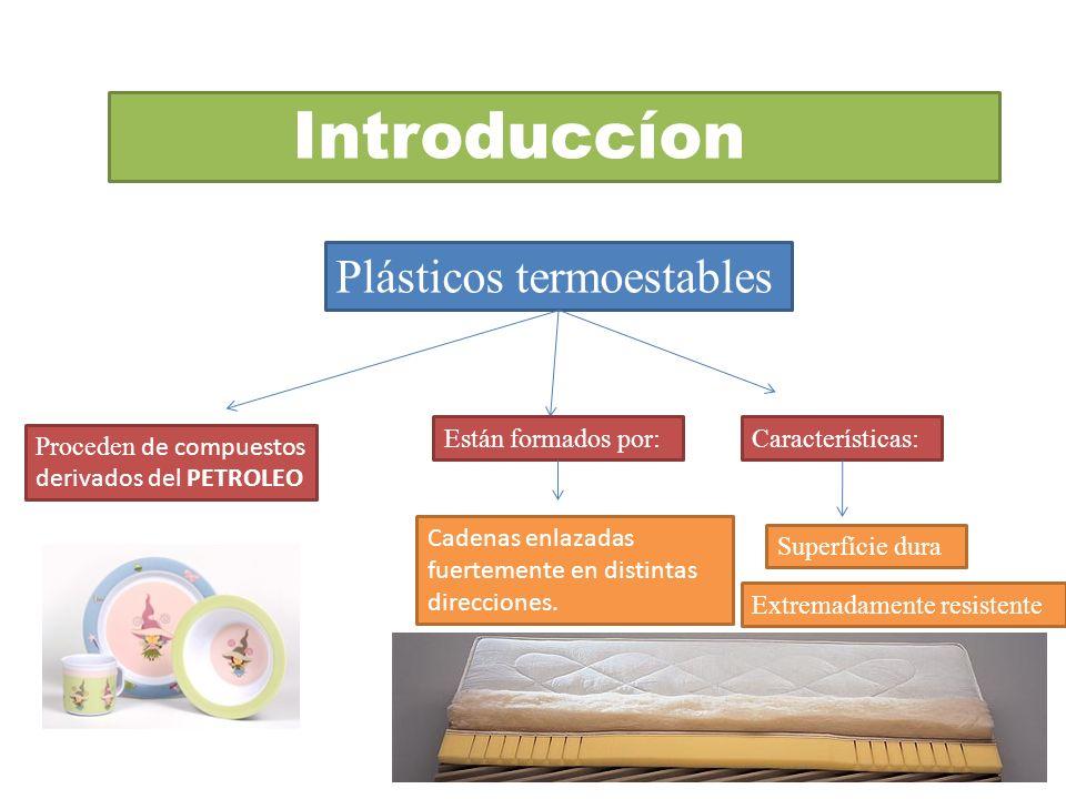 Introduccíon Plásticos termoestables Están formados por: