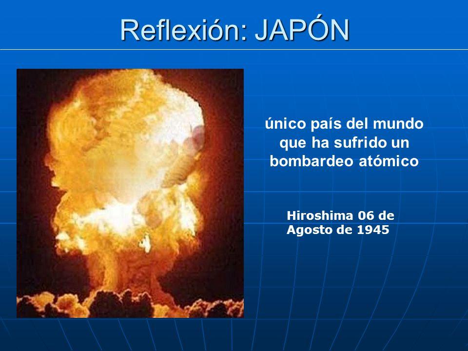 único país del mundo que ha sufrido un bombardeo atómico