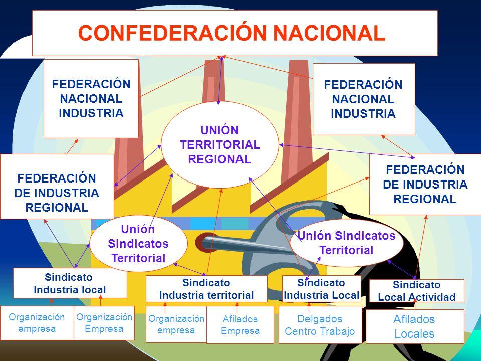 CONFEDERACIÓN NACIONAL. Industria territorial