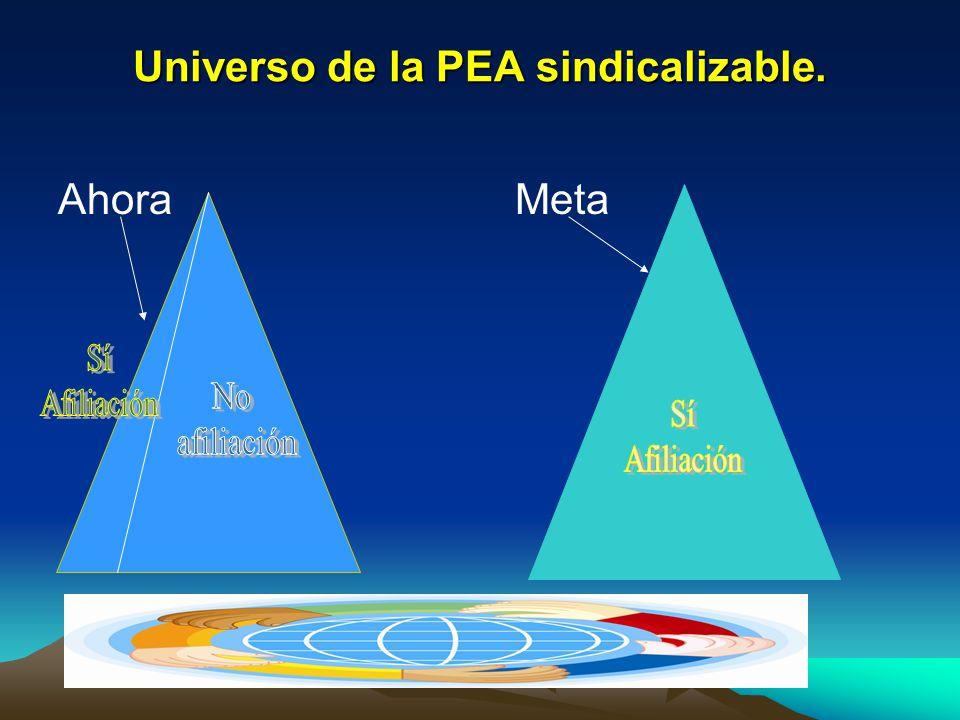 Universo de la PEA sindicalizable.