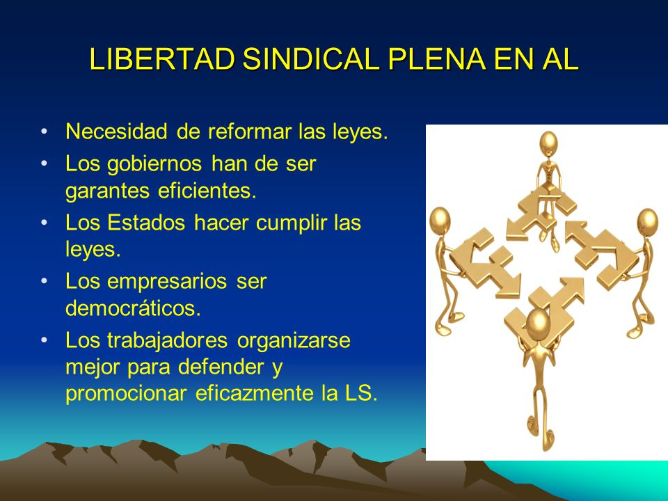 LIBERTAD SINDICAL PLENA EN AL