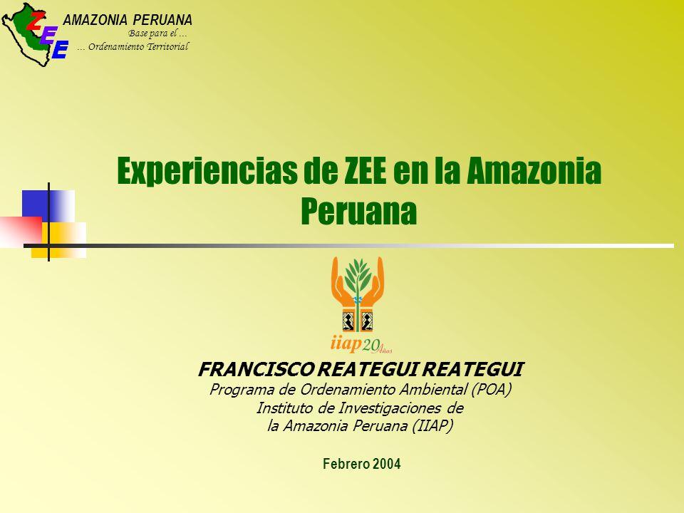 Experiencias de ZEE en la Amazonia Peruana