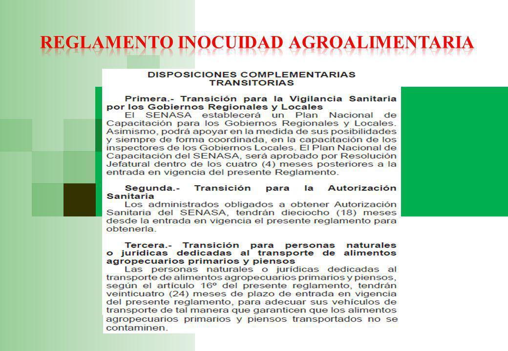 Reglamento inocuidad agroalimentaria