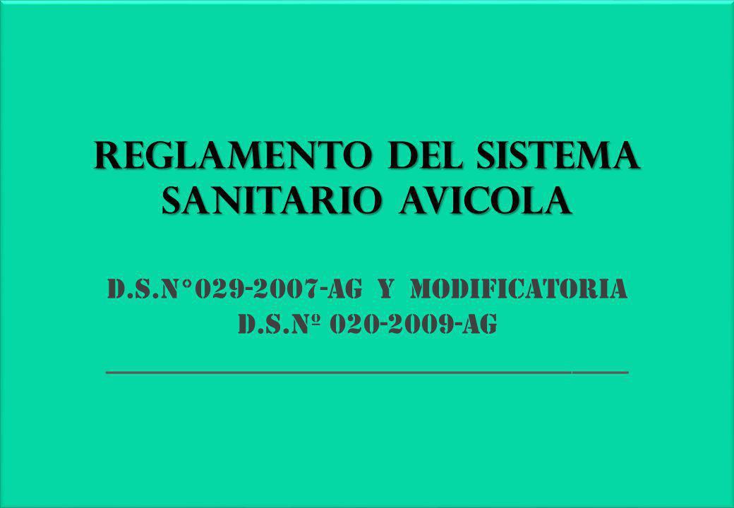 REGLAMENTO DEL SISTEMA SANITARIO AVICOLA D. S