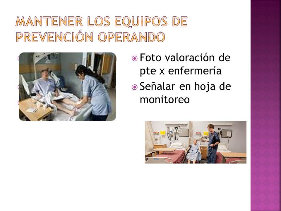 Mantener los equipos de prevención operando